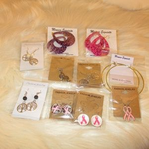 Jewelry - 10 pairs of earrings - all different & all new